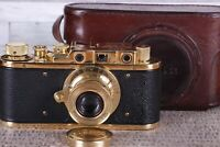 Leica II D Berlin 1936 Camera lens Leitz Elmar Vintage Exclusive Fed Zorki copy