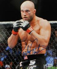 Randy Couture Autographed UFC 8x10 Photo In Ring- Beckett Auth *Blue