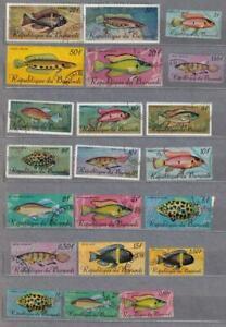 Burundi Fish Used Stamps 157
