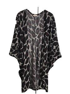Womens Cacoon Animal Print Cardigan. Size 1xL Sweet Pea Brand