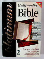 Holy Bible CD Rom XP Compatible 5 Disk 6 Languages 10 Translations 2003
