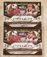 2020 Panini Prizm NFL Football Blaster Box Exclusive Cards Lot of 2 In Hand NEW