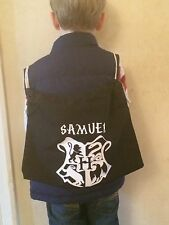 PERSONALISED HARRY POTTER NAMED  PE, SWIM, GYM SCHOOL DRAWSTRING COTTON BAG NEW
