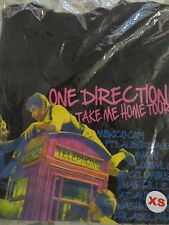 NEW One Direction 1D Black Tee T-Shirt Take Me Home Music Concert Tour Size XS
