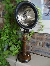 Lampada da tavolo antico dal vecchio Riflettore auto, design unico, perfetto per Loft a parte