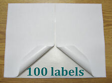 "100 Shipping Labels Self Adhesive Printer Paper Paypal Ebay Postage 8.5"" x 5.5"""