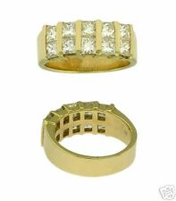 Ladies Wedding Band Ring Estate 14Kt Yg 1.50ct Diamond