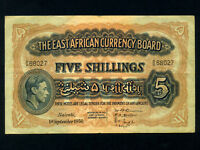 East Africa:P-29b,5 Shillings,1950 * King George VI * Nice VF ! *