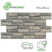 Pannello Finta finta pietra PVC 3D  decorazione parete  98x48cm  kit di 2 Pz