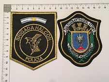 2 ORIGINAL POLICE SANTIAGO SWAT HALCON PATCHES COLLECTION PATCH ARGENTINA 80s90s