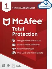 McAfee Total Protection Security 1 PC 1 Jahr Mac Android