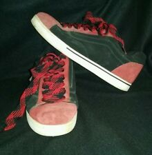 VINTAGE VANS DOLLIN NO SKOOL OFF THE WALL BLACK & RED SKATE SHOES MENS SIZE 11.5