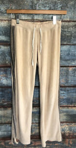 Petite Juicy Couture Beige Terry Cloth Juicy Pants
