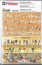 Preiser Leisure Seated People,  Figures in HO, 1/87, 120 Unpainted , 16328 ST