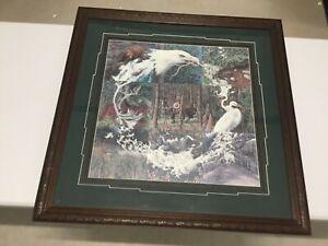 Bev Doolittle signed SN Sacred Circle Beautifully Framed Indian riding Horse Art