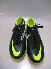 NIKE Mens MERCURIAL VICTORY Turf Soccer Shoes Black/Lime US 11.5 (509133-376)