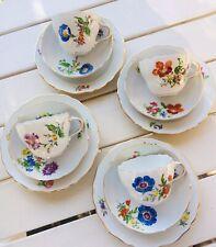 Meissen 1.Wahl Kaffeegedecke Teegedecke Service Blumen Wildblumen mit Goldrand
