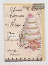 NEUF CARTE ANNIVERSAIRE MARIAGE (noces de) !! 10 CARTES ACHETEES = PORT GRATUIT