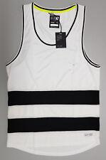 St Goliath Mens Small White Performance Wear Singlet Tank Workout Gym