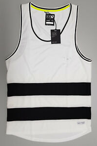 NEW ST GOLIATH Mens SMALL White Performance Wear Singlet Tank Workout Gym $49.95
