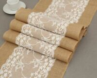 Lace Burlap Table Runners Tableware Place Mat Christmas Wedding Party Decoration