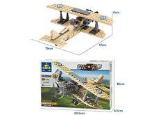 Military Sopwith F-1 Camel w/ Figure Compatible Building Bricks 126pcs DB