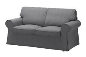 Brand New Ikea Cover for Ektorp 2 Seat Sofa in Nordvalla Grey 903.223.22