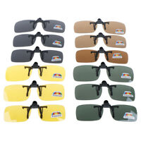 Clip-on Polarized Day Night Vision Flip-up Lens Driving Glasses Sunglasses PY