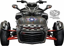 Can Am Spyder F3 Decal Graphic Wrap kit - Ol Warbird Front, Hood & Fender kit