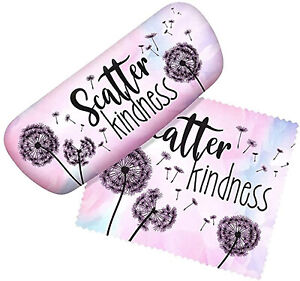 Spoontiques Padded Eye Glass Case and Lens Cloth - Scatter Kindness