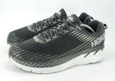 Hoka One One Clifton 5 Knit Running Shoe Mens Size 12 1093757 BWHT Black