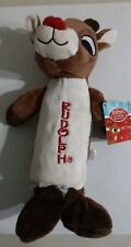Rudolph The Red Nosed Reindeer  SQUEAKER DOG TOY crinkle water bottle and Squeak