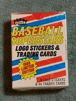 1988 Fleer Baseball Superstars Factory Sealed 44 Card Set. Limited Edition.