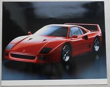 2 FERRARI f40 Couleur Photos colour PRESS NO book livre brochure prospectus depliant