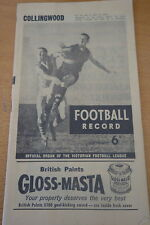 1962 AFL FOOTBALL RECORD COLLINGWOOD MELBOURNE RD 4