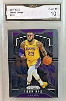 GMA Gem Mint 10: 2019 Lebron James, Panini Prizm Card #129, Los Angeles Lakers
