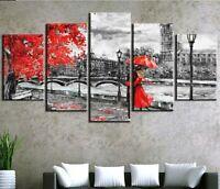 Romantic Couple Lover London 5 panel canvas Wall Art Home Decor Print Painting