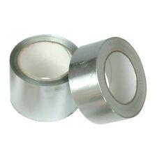 Aluminium Silver Foil Duct Tape Self Adhesive Heat Insulation HVAC - 75mm x 45m