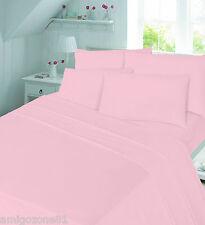 Brushed 100% Cotton Flannelette Fitted Sheet , Flat sheet  Pillow case Sheet Set