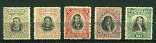 Ecuador 1901, Presidents, SC# 137-141, MH Used 2884