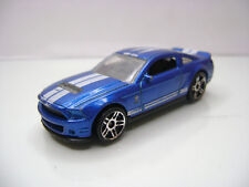 Diecast Hot Wheels Malasya Ford Shelby GT500 in Blue Good Condition