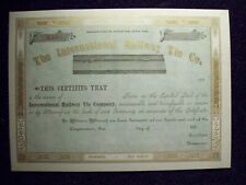 THE INTERNATIONAL RAILWAY TIE CO. STOCK CRTIFICATE 1880s UNISSUED