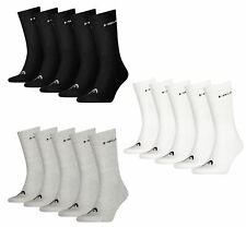 HEAD Unisex Socks Men Women Cotton Blend Crew Sports Sock 5 Pairs
