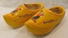 Pair Heineken Holland Beer Wooden Shoe Clog Beer Advertising Vintage