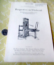 PERSPECTIVES ON WITCHCRAFT,Oct 1992,John Hale