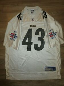 Troy Polamalu #43 Pittsburgh Steelers Super Bowl NFL Reebok Jersey XL Mens