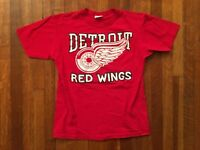 VTG 90s / 80s STARTER Detroit Red Wings T-Shirt Single Stitch USA Youth Large