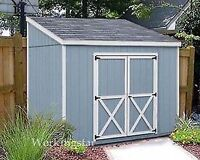 4' x 8' Slant / Lean To Style Shed Plans / Building Blueprints & Guides # E0408