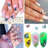 30pcs/set Butterfly Nail Stickers Water Transfer Decals Art Manicure Decor T1Z3