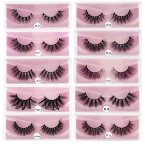 Wholesale pairs of mink Eyelashes 3D Mink Lashes Natural Soft Bulk false lashes